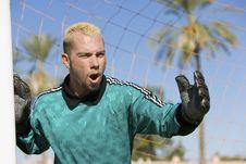Free Goalkeeper Shouting Stock Image - 13585111