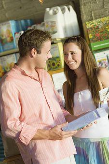 Free Couple In Garden Centre Stock Image - 13585141
