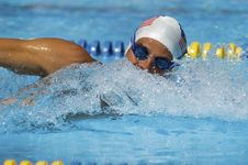 Free Competitive Swimmer Stock Photography - 13585332