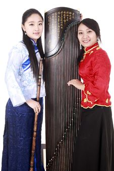 Chinese Female Musicians Stock Images