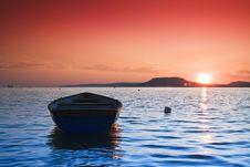 Free Sunset Lake Royalty Free Stock Image - 13586496