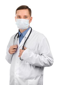 Young Doctor Wearing A Mask Stock Photo