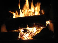 Free Log Fire Stock Photography - 13588752