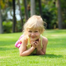 Free Little Girl On Meadow Stock Image - 13588811