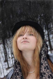 Free Bright Girl At The Dull Season Royalty Free Stock Image - 13589076