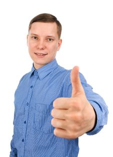 Free Man With Thumb Up Royalty Free Stock Image - 13589126
