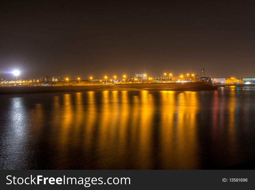 Harbour at night 4
