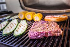 Free Grilling, Steak, Meat, Barbecue Stock Image - 135806771