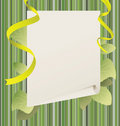 Free Paper With Green Leaves Stock Photo - 13590550
