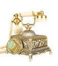Free Retro Gold Phone. Stock Photography - 13596572
