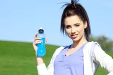 Free Fitness Girl In Park. Stock Photography - 13590302