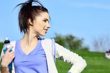 Free Fitness Girl In Park. Royalty Free Stock Images - 13590379