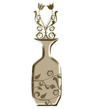 Vase With Floral Shapes Royalty Free Stock Images
