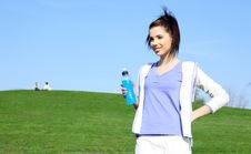 Free Fitness Girl In Park. Royalty Free Stock Images - 13590529