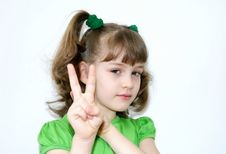 Free The Girl On A White Background Royalty Free Stock Image - 13590596