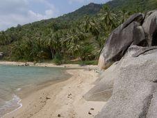 Free White Beach, Koh Phangan, Thailand. Royalty Free Stock Photography - 13590827