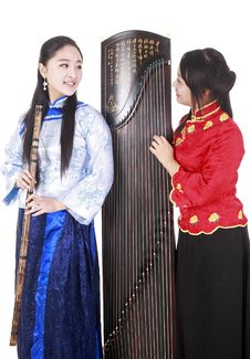Free Chinese Musicians Royalty Free Stock Photography - 13590857