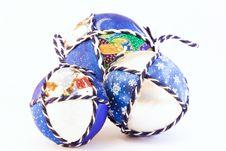 Handmade Christmas Balls Royalty Free Stock Photo