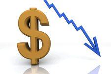 3D Render Money Signs Stock Photos