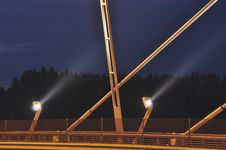 Free Lights Of A New Bridge Stock Image - 13590921