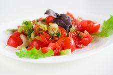Free Tomato Salad Stock Photography - 13591512
