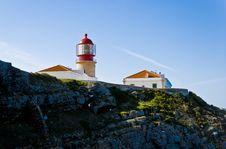 Free Lighthouse Of Cabo De São Vicente, Algarve Stock Images - 13592014