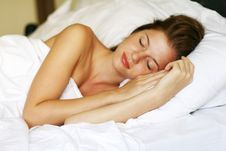 Free Woman In Bed Royalty Free Stock Photography - 13592157