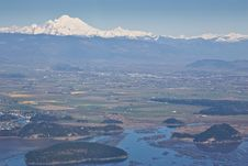 Free Skagit Valley Aerial View Royalty Free Stock Photography - 13592317