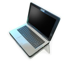 Free Laptop On White Mirrow Stock Photos - 13592633