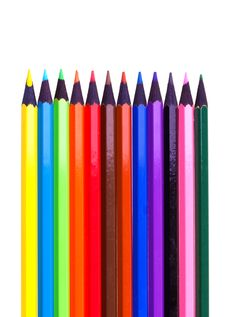 Free Color Pencils Royalty Free Stock Photography - 13592757