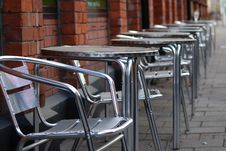 Free Chairs On The Street Royalty Free Stock Photography - 13593357