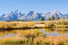 Grand Teton Mountains Stock Image