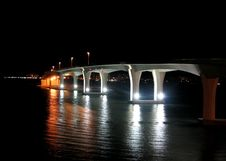 Concrete Serpeant At Night Stock Photography