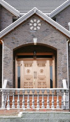 Free Front Door Home Copper Stock Image - 13595391