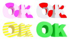 OK Multi-coloured Royalty Free Stock Images