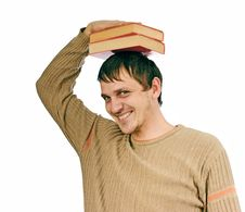 Free Student With Textbooks Stock Photos - 13595683