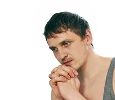 Free Thoughtful Young Man Royalty Free Stock Images - 13595689