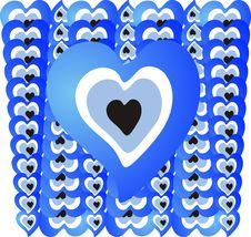 Free Heart Blue Bead 01 Royalty Free Stock Photos - 13596428
