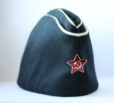 Free Cap Of Russian Navy Officers Stock Photography - 13596982