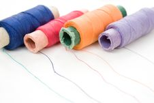 Free Multicolor Thread Reels On White Stock Photos - 13597083