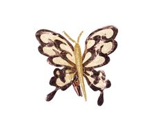 Free Decorative Butterfly On White Stock Photography - 13597692