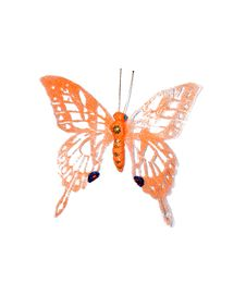 Free Decorative Butterfly On White Stock Photo - 13597700