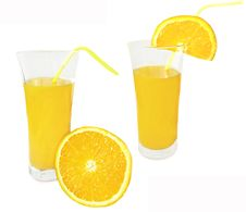 Free Two Glasses Of Orange Juice Royalty Free Stock Photos - 13598028