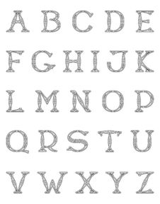 Free Alphabet Openwork Font Royalty Free Stock Photography - 13598297