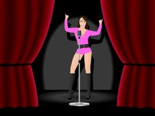 Stage With Singer Royalty Free Stock Image