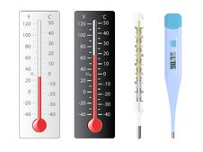 Free Set Of Thermometers Royalty Free Stock Images - 13598419