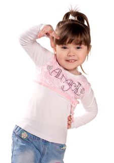 Free Happy Little Girl Stock Photography - 13598772