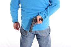 Free Men With Pistol Royalty Free Stock Photos - 13599378