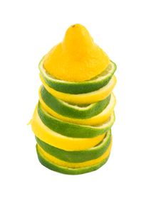 Free Lemon And Lime Slices. Royalty Free Stock Photography - 13599687