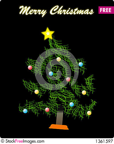 Abstract christmas tree Cartoon Illustration